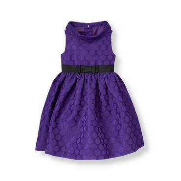 Violet Purple Dot Dot Jacquard Dress at JanieandJack
