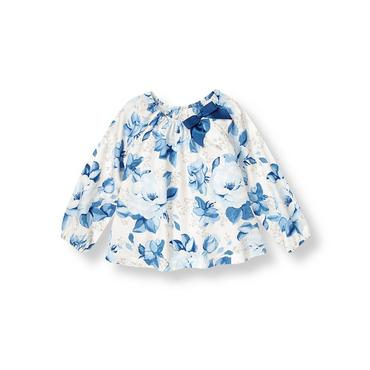 Blue Rose Rose Floral Top at JanieandJack