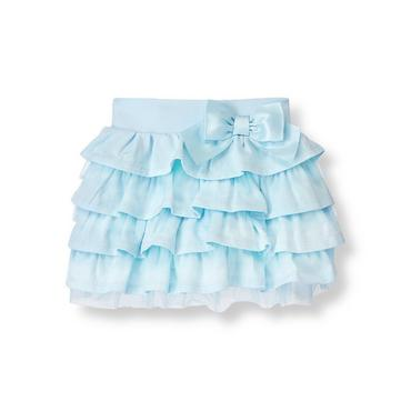 Stardust Blue Tiered Knit Skirt at JanieandJack