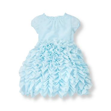 Stardust Blue Ruffle Tiered Voile Dress at JanieandJack