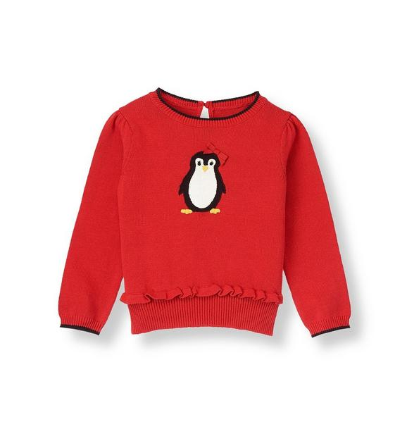 Bow Penguin Sweater