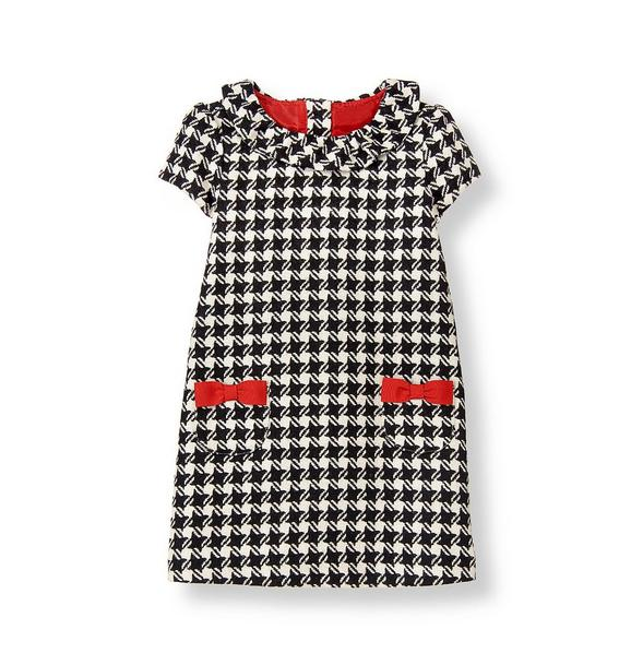 Bow Houndstooth Dress