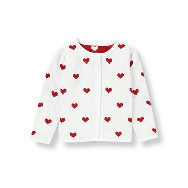 White Heart Sweater Cardigan at JanieandJack