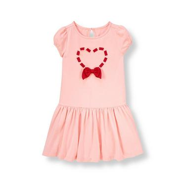 Sweetheart Pink Ribbon Heart Dress at JanieandJack