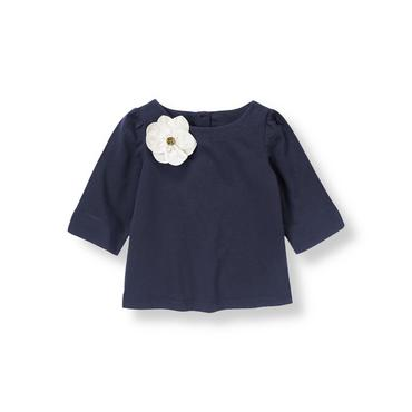 Nautical Navy Corsage Flower Top at JanieandJack