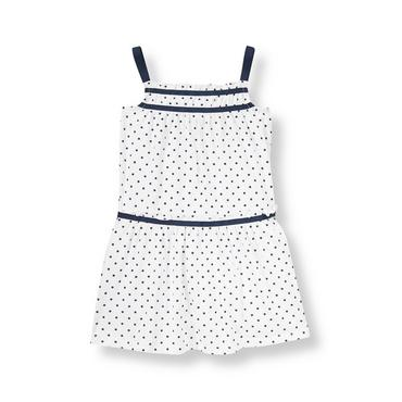 White Dot Dot Knit Dress at JanieandJack