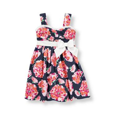 Carnation Floral Floral Poplin Dress at JanieandJack