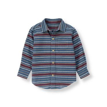Mulberry Stripe Stripe Flannel Shirt at JanieandJack