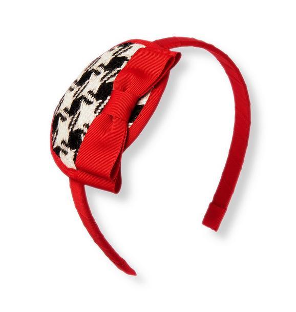 Bow Houndstooth Headband