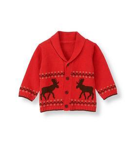 Reindeer Fair Isle Cardigan