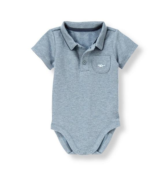 Shark Short Sleeve Polo Bodysuit