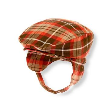 Baby Boy Chestnut Brown Plaid Plaid Cap at JanieandJack