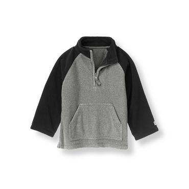 Winter Grey Microfleece Half-Zip Pullover at JanieandJack