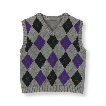 Festive Purple Argyle Argyle Sweater Vest at JanieandJack