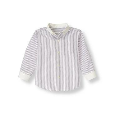 Festive Purple Stripe Stripe Shirt at JanieandJack
