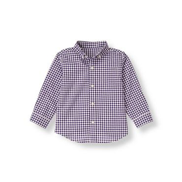 Festive Purple Check Checked Shirt at JanieandJack