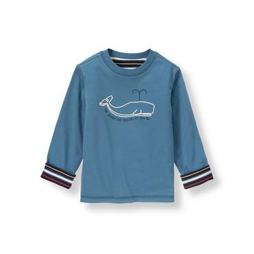 Whale Blue Whale Reversible Tee at JanieandJack