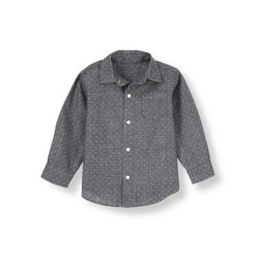 Black Chambray Dot Chambray Shirt at JanieandJack
