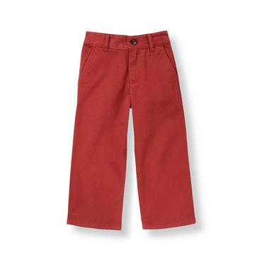 Boys Brick Red Twill Pant at JanieandJack