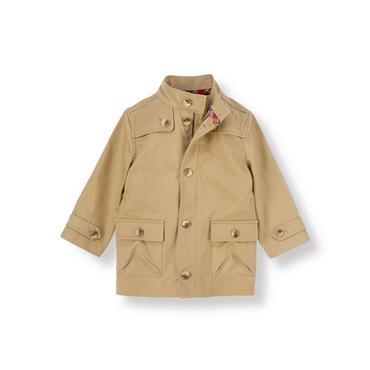 Khaki Canvas Coat at JanieandJack
