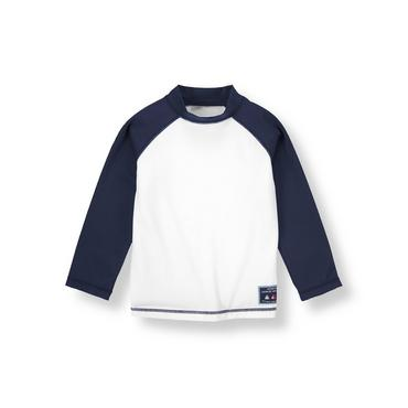 White/Navy Rash Guard at JanieandJack