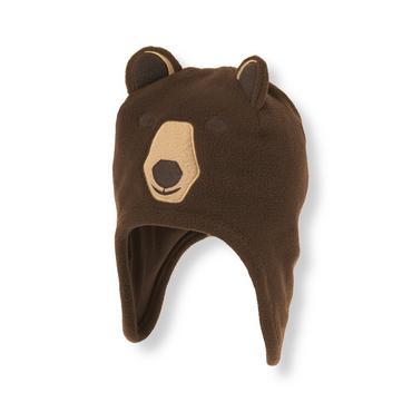Boys Bear Brown Bear Microfleece Earflap Hat at JanieandJack