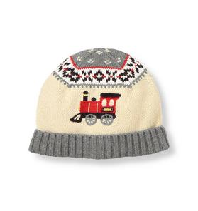 Train Fair Isle Sweater Hat