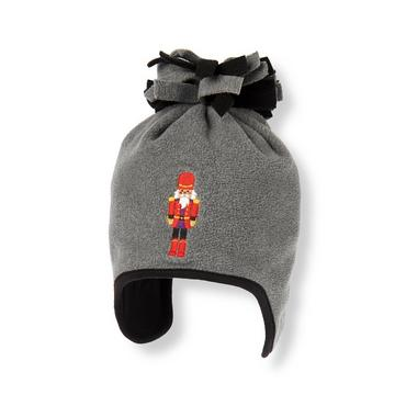 Boys Winter Grey Nutcracker Microfleece Earflap Hat at JanieandJack