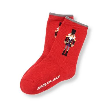 Boys Nutcracker Red Nutcracker Sock at JanieandJack