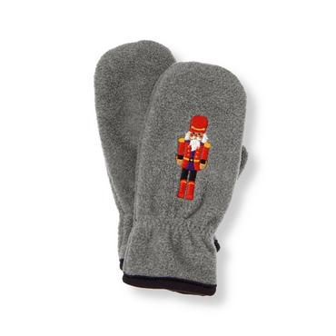 Boys Winter Grey Nutcracker Microfleece Mitten at JanieandJack