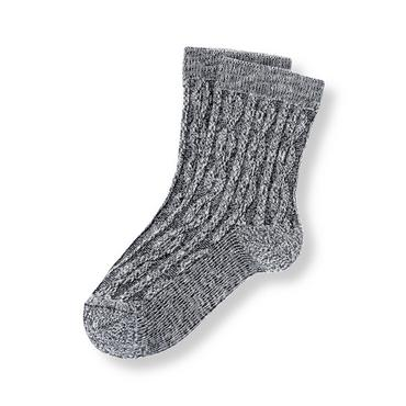 Boys Navy Marl Marled Sock at JanieandJack