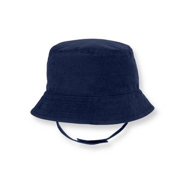 Boys Navy Sailboat Sailboat Reversible Bucket Hat at JanieandJack