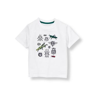 Pure White Bug Collection Tee at JanieandJack