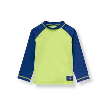 Boys Leaf Green Frog Rash Guard at JanieandJack