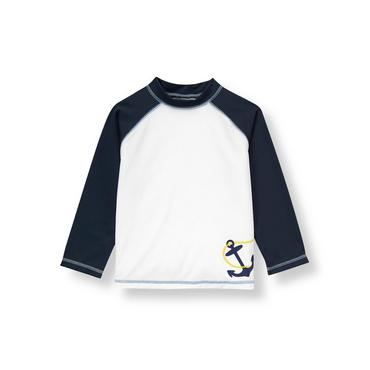 White/Navy Anchor Rash Guard at JanieandJack