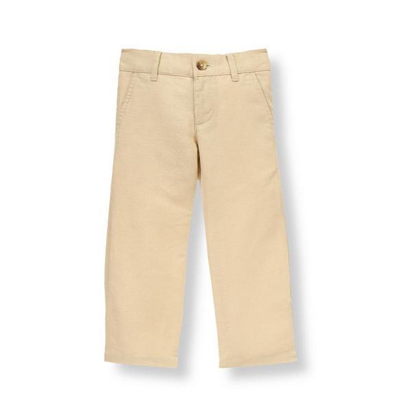 Khaki Linen Blend Pant