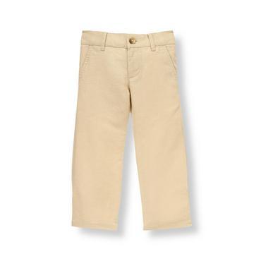 Classic Khaki Khaki Linen Blend Pant at JanieandJack