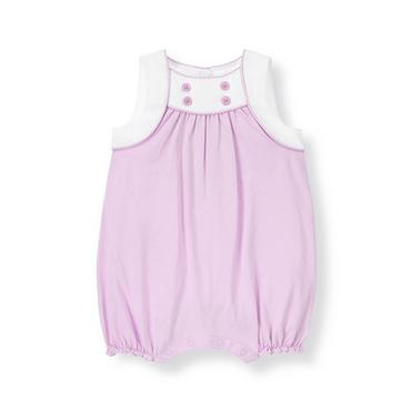 Baby Girl Pastel Violet Button Knit Bubble at JanieandJack