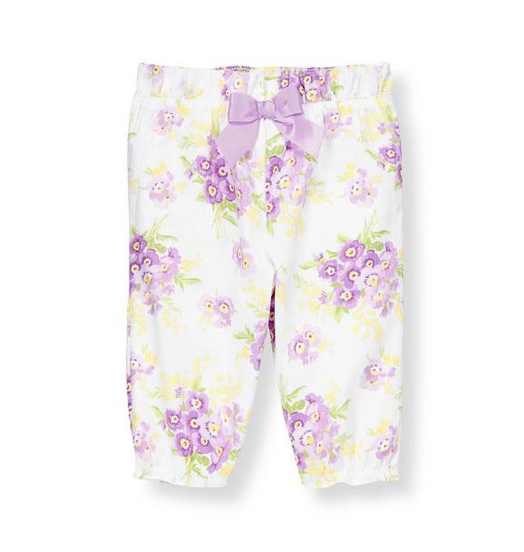 Bow Stripe Dobby Floral Pant
