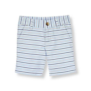 Coastal Blue Stripe Oxford Stripe Short at JanieandJack