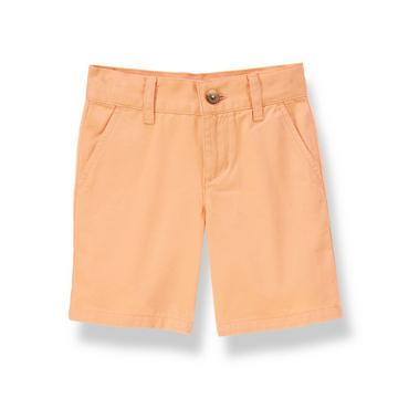Sunrise Orange Twill Short at JanieandJack