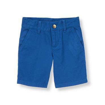 Nautical Blue Twill Short at JanieandJack