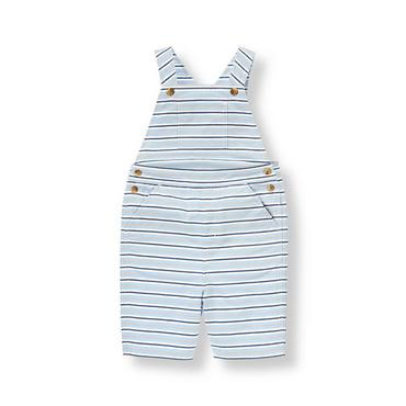 Coastal Blue Stripe Oxford Stripe Shortall at JanieandJack