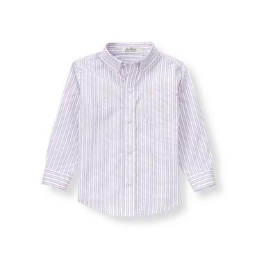 Lavender Stripe Striped Poplin Shirt at JanieandJack