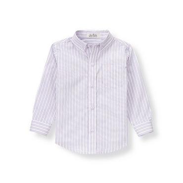 Lavender Stripe Striped Poplin Shirt at JanieandJack