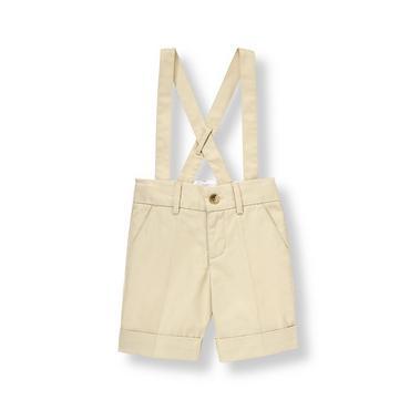 Classic Khaki Twill Suspender Short at JanieandJack