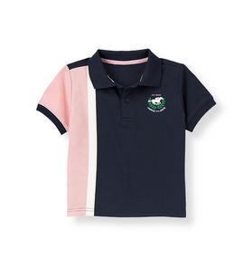 Colorblock Pique Polo Shirt