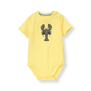 Lemon Yellow Lobster Bodysuit at JanieandJack
