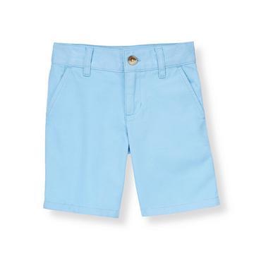 Boys Shoreline Blue Twill Short at JanieandJack