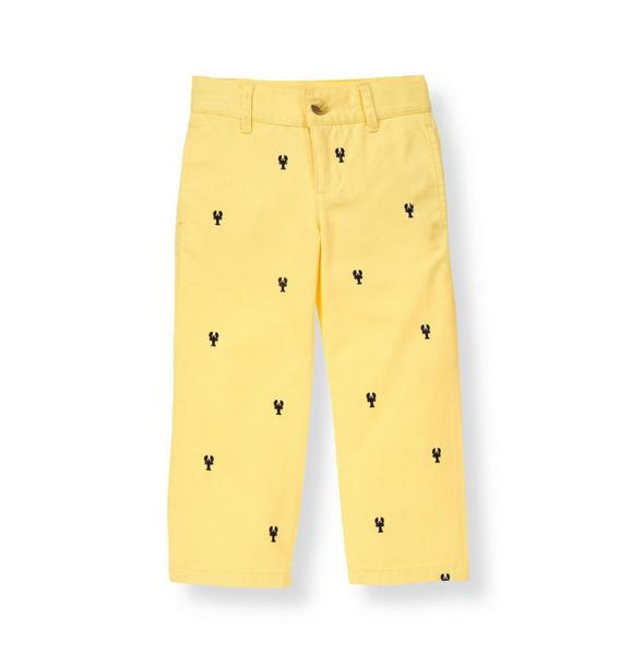Embroidered Lobster Pant